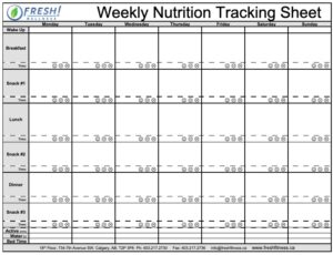 Weekly Nutrition Tracking Sheet-Thumnbail